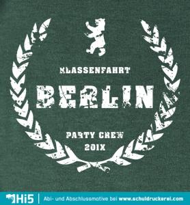 Abschlussmotto: Party Crew   K079   Schuldruckerei.com